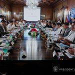 President Rodrigo Roa Duterte presides over the 19th Cabinet Mee