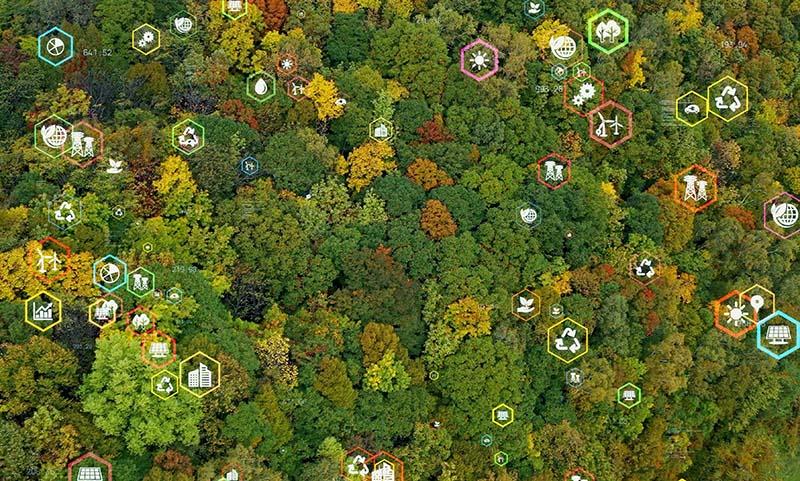 Environmental technology concept. Sustainable development goals. SDGs