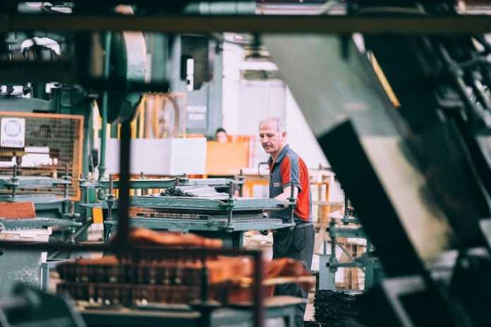 Worker at Manufacturing Factory
